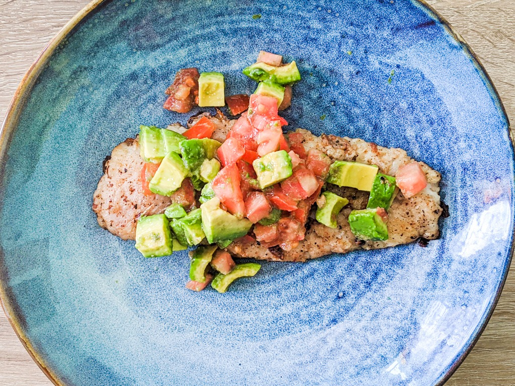 Butter Seared Hake With Fresh Tomato And Avocado