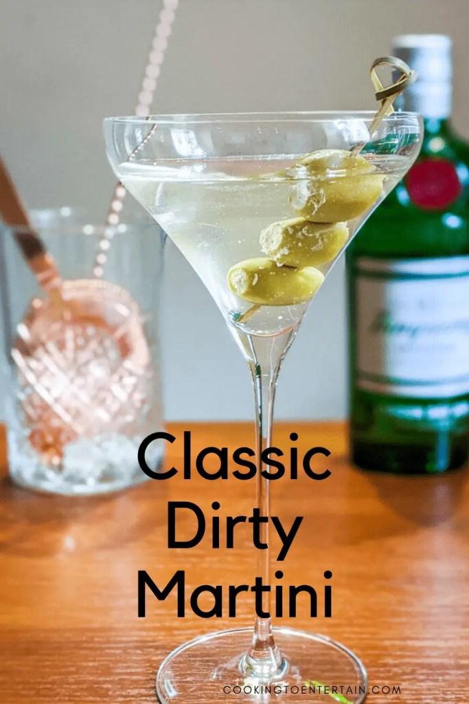 classic dirty martini pin
