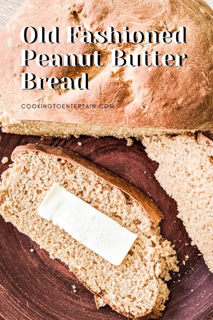 peanut butter bread pin image