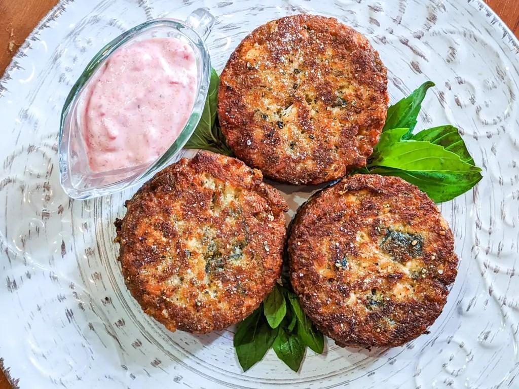 Salmon Cakes with horseradish mayonnaise