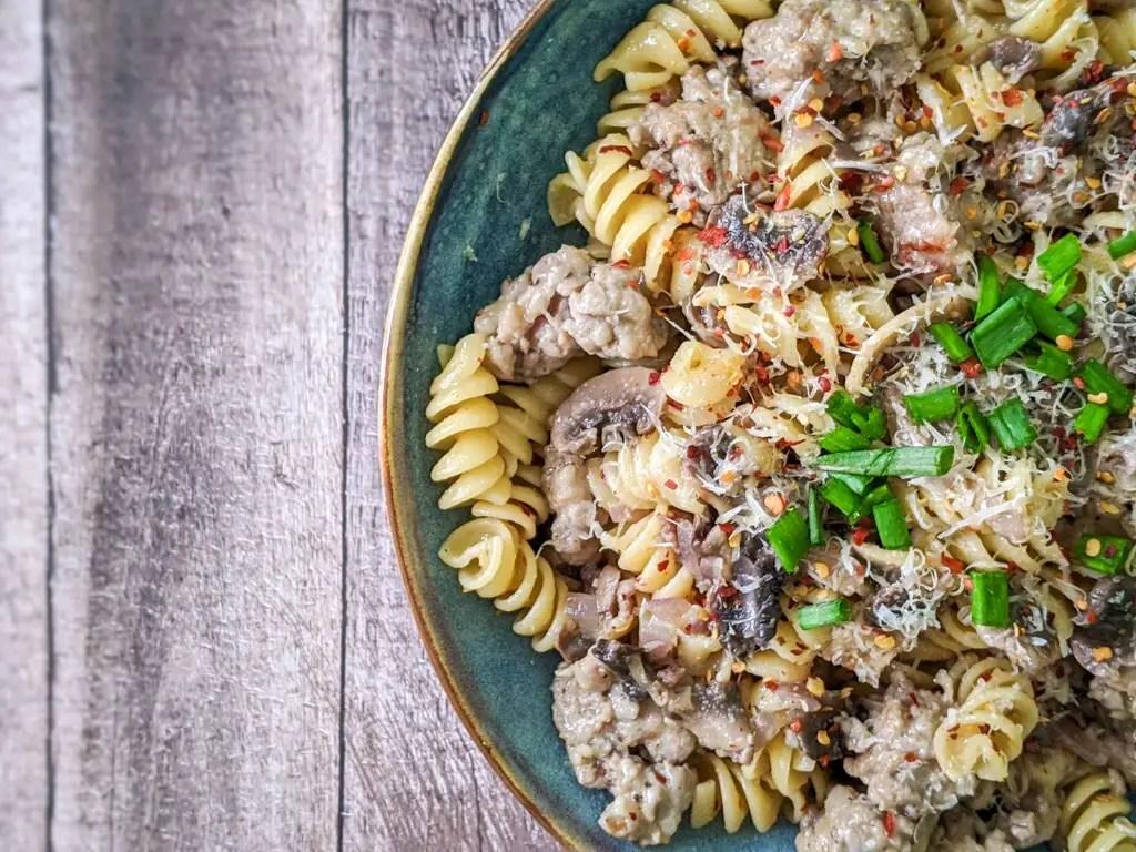Sausage And Mushroom Rotini