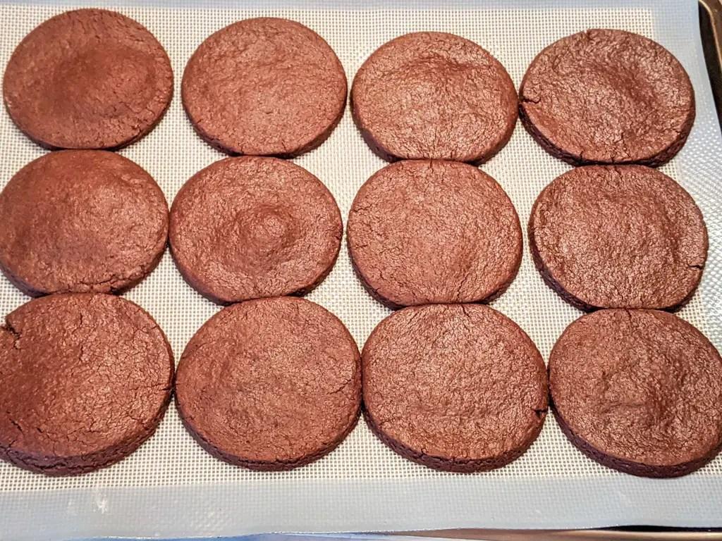 sea salt chocolate sable cookies