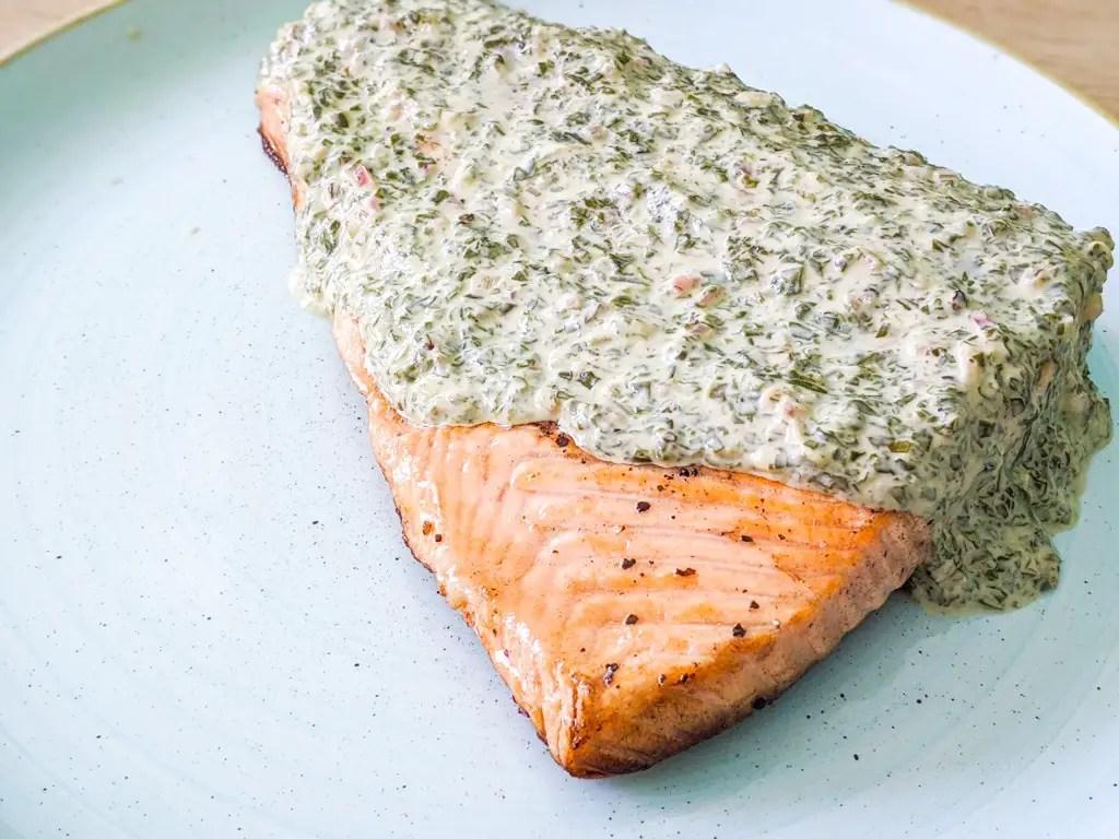 salmon with sorrel sauce