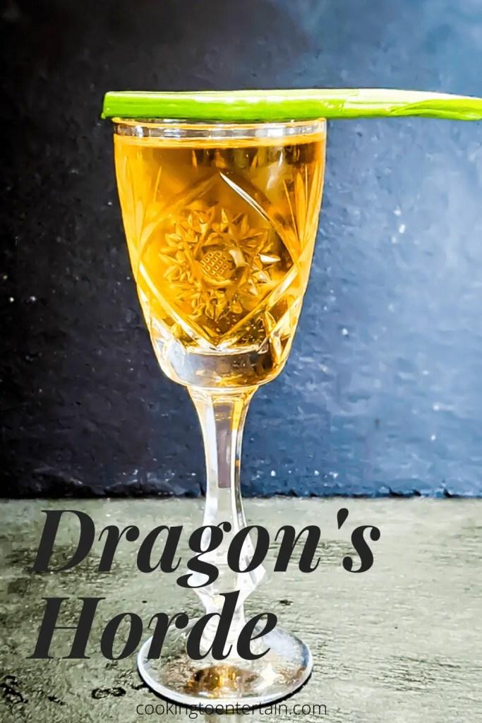 Dragon's Horde Cocktail pin