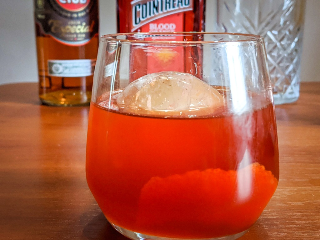 The El Presidente Cocktail with an orange peel garnish