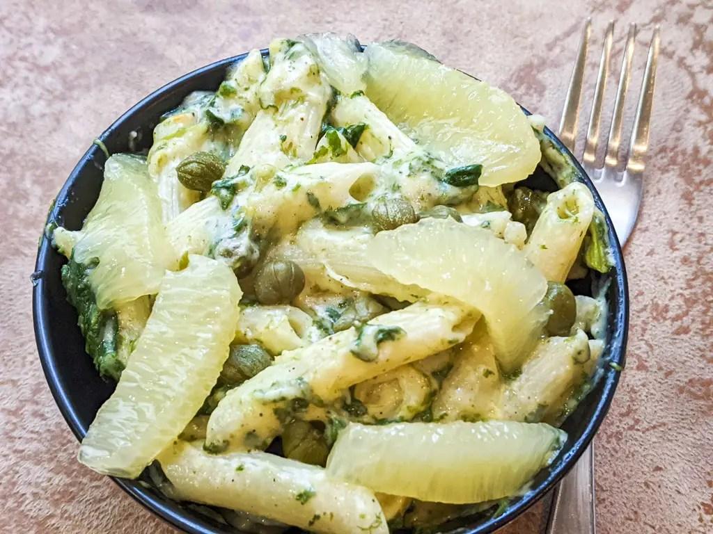 Lemon Caper Penne Pasta recipe souplantation copycat