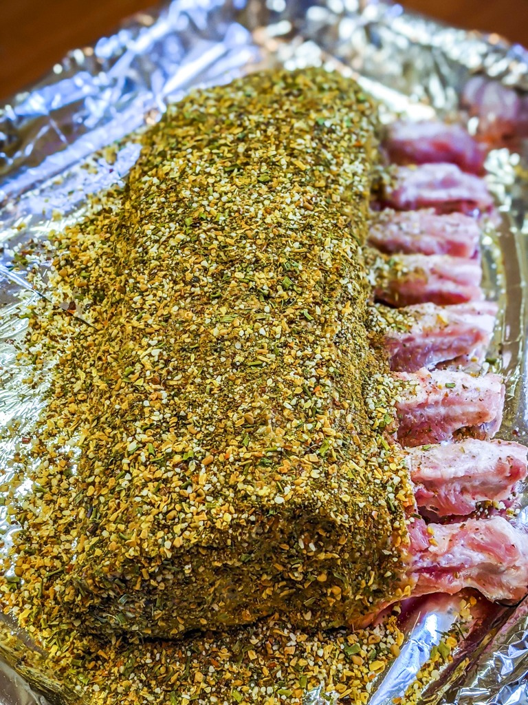perfectly seasoned rack of pork