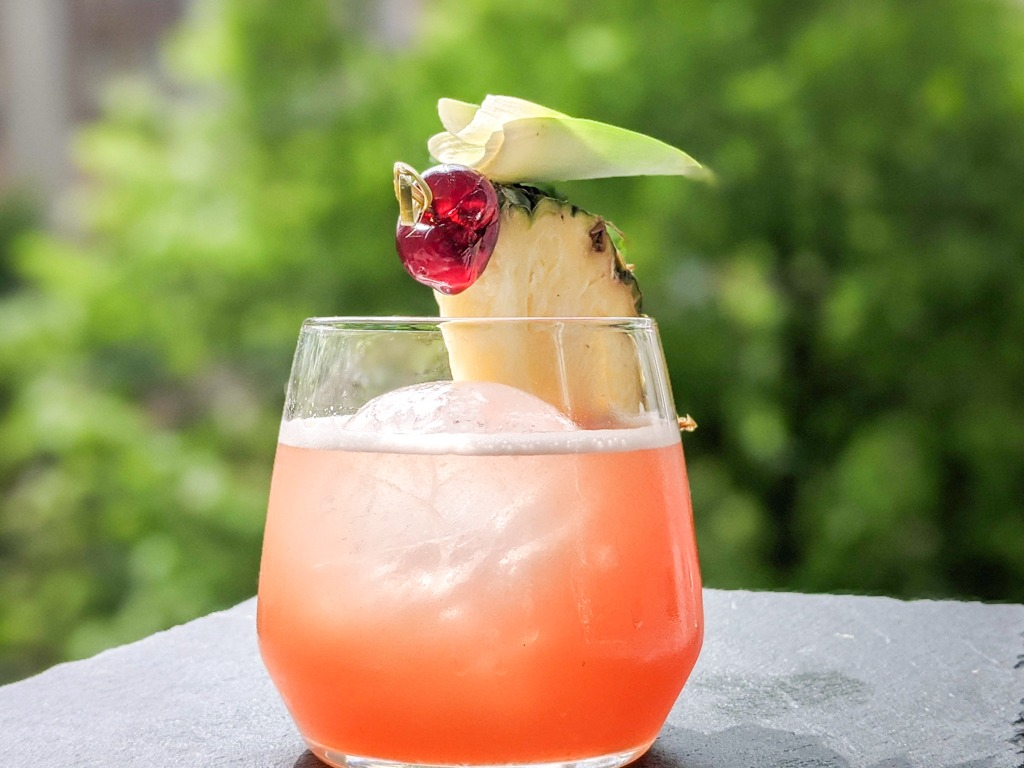 jungle bird homemade cocktail