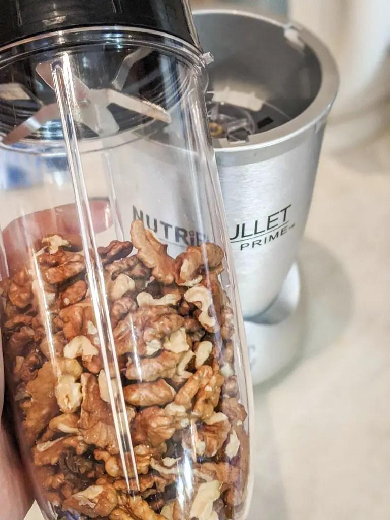 walnuts in a nutribullet