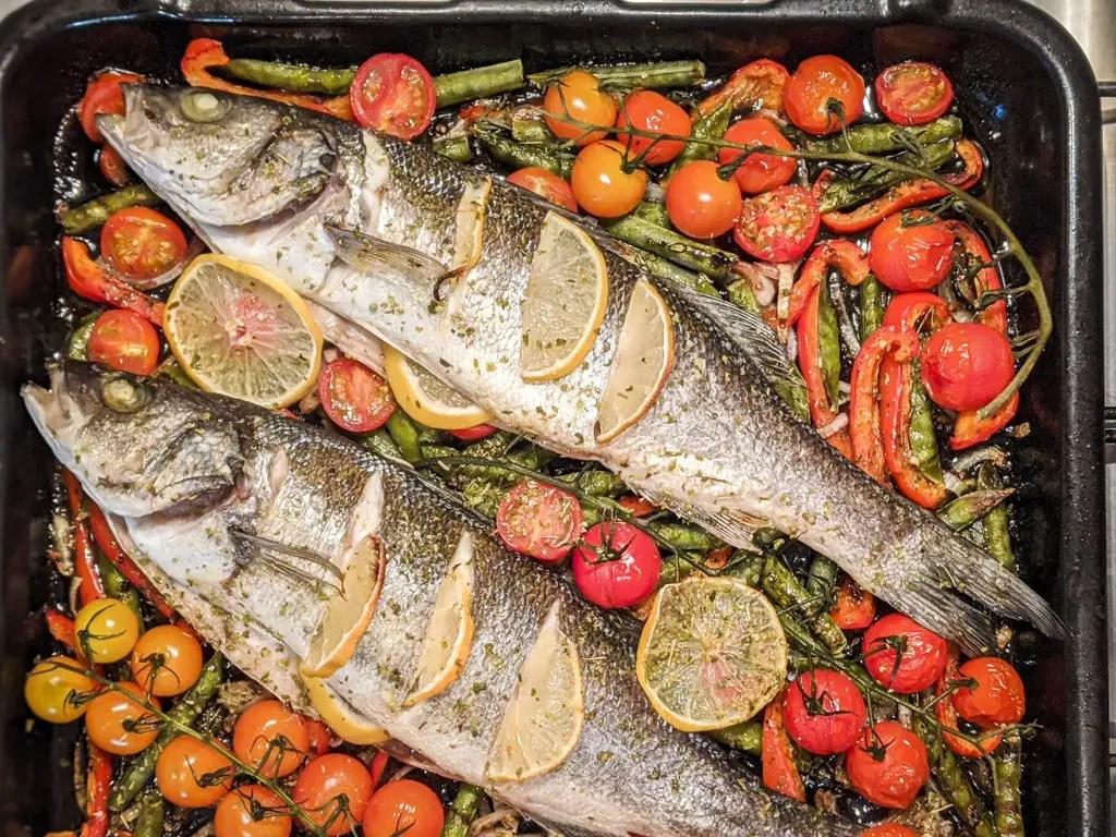 Baked Mediterranean Sea Bass