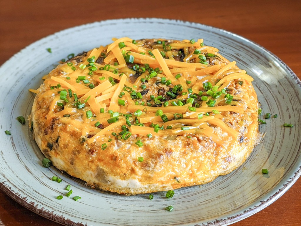Egg White Frittata  with cheddar and chives
