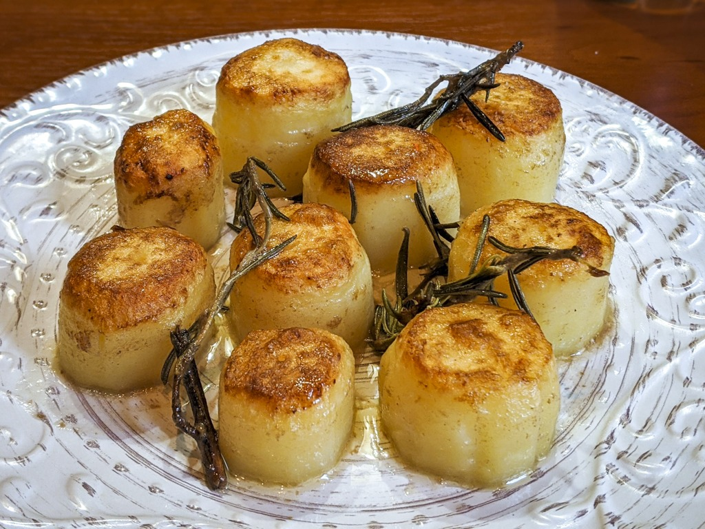 fondant potatoes with rosemary