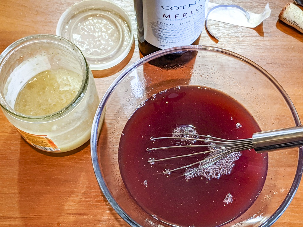 plum sauce ingredients in a bowl