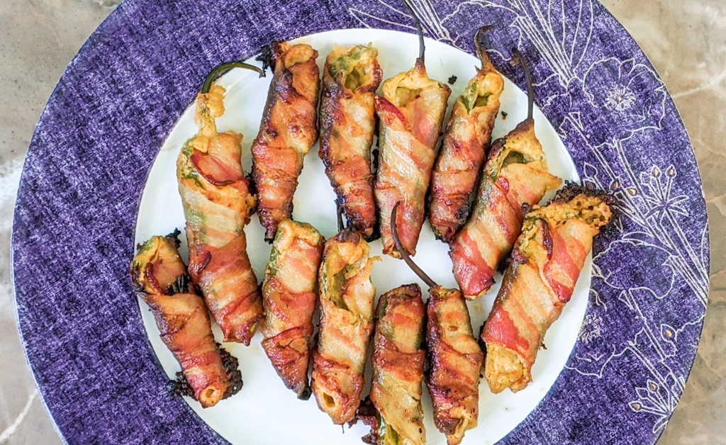 Freshly baked Gourmet Goat Cheese Jalapeno Poppers