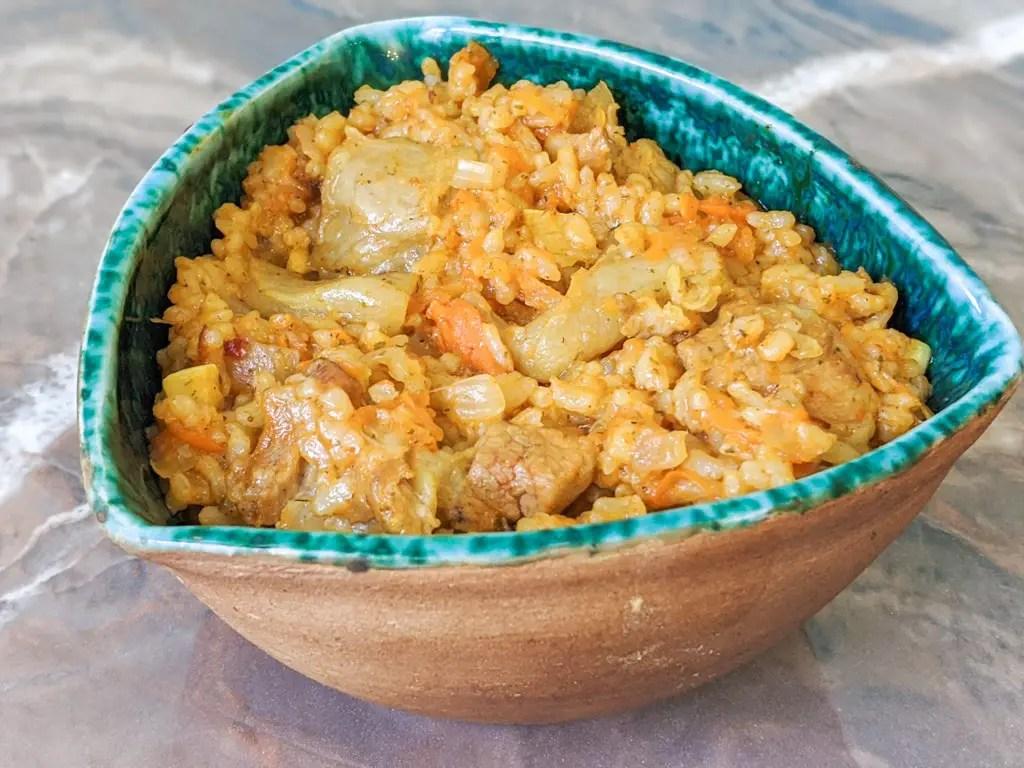Ukrainian Pork Plov (Rice Pilaf) authentic and delicious