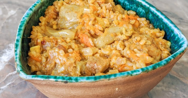 Ukrainian Pork Plov (Rice Pilaf)
