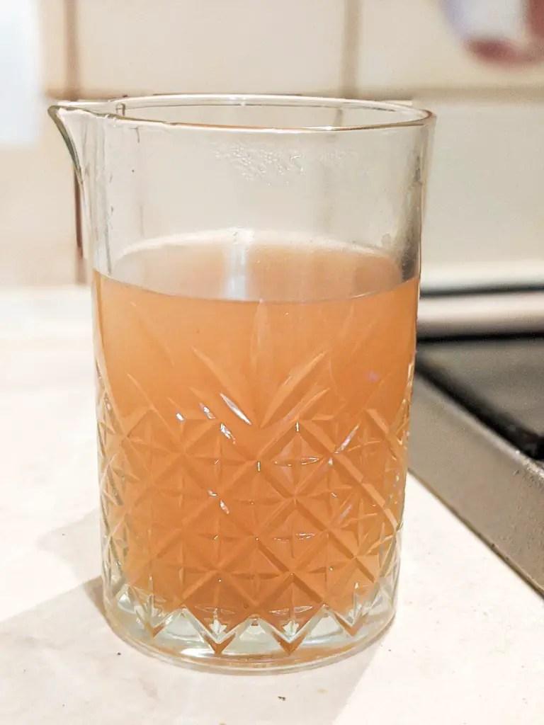 homemade langoustine stock