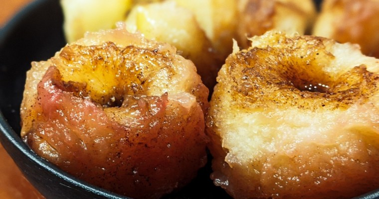 Pine Syrup Baked Apples