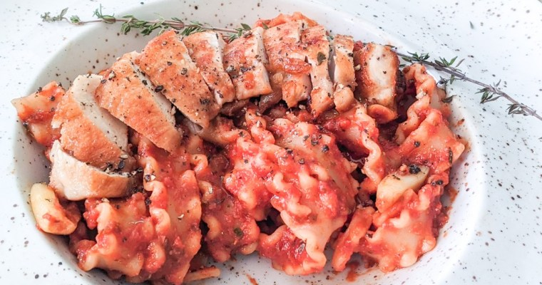 Saddle Of Rabbit With Pasta Arrabbiata