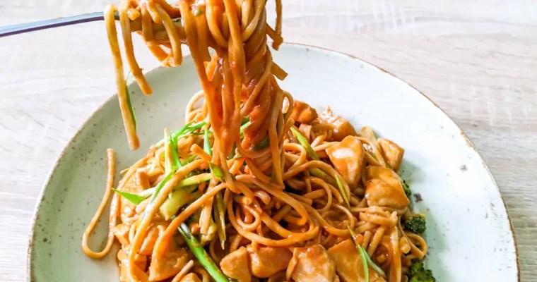 Spicy Peanut Sauce Noodles