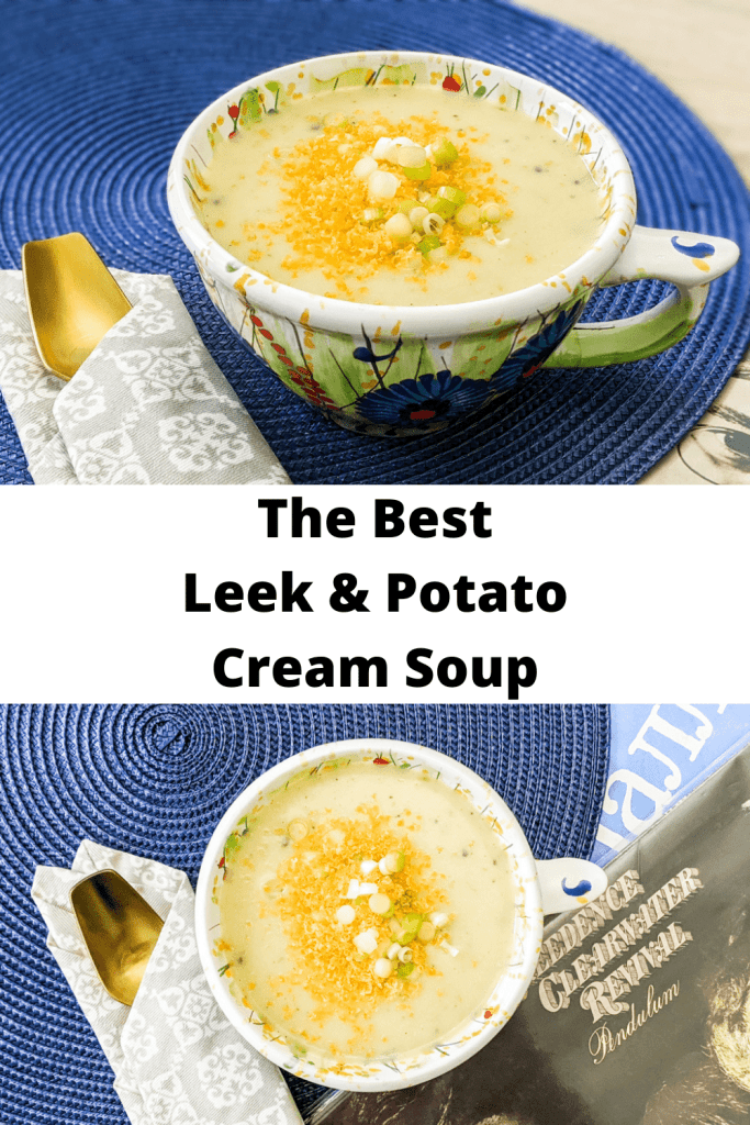 Best Leek And Potato Soup pinterest pin