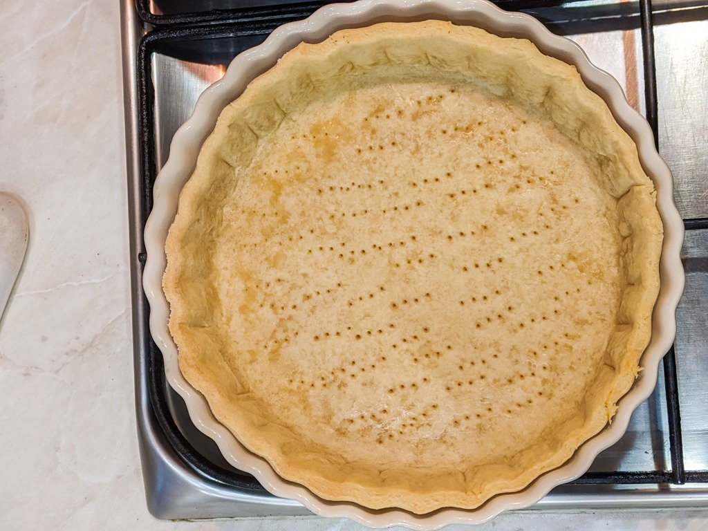 freshly baked out of the oven Pate Brisee (Savory Tart Crust)