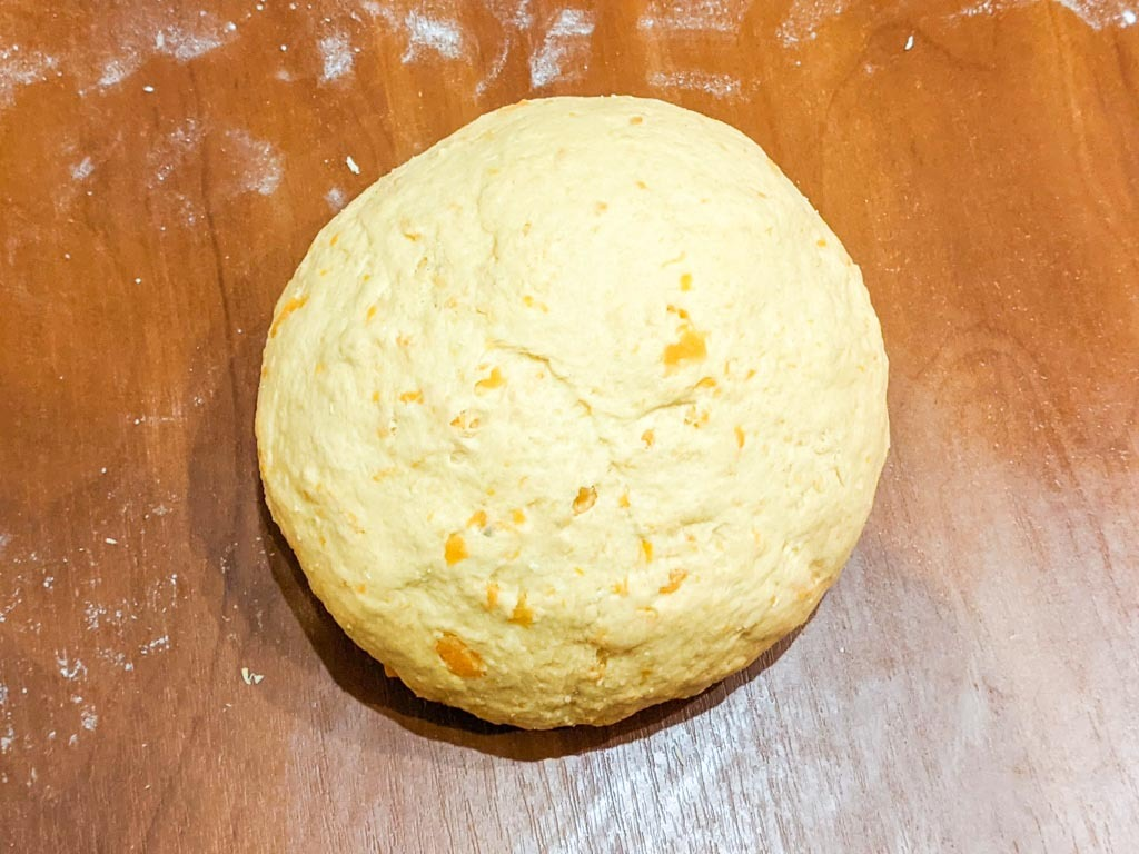 ball of sweet potato gnocchi dough