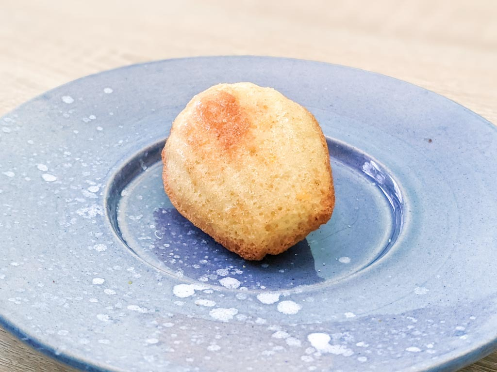 a single French Lemon Madeleine cake