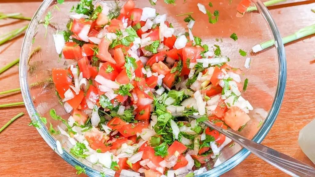 fresh Mexican salsa