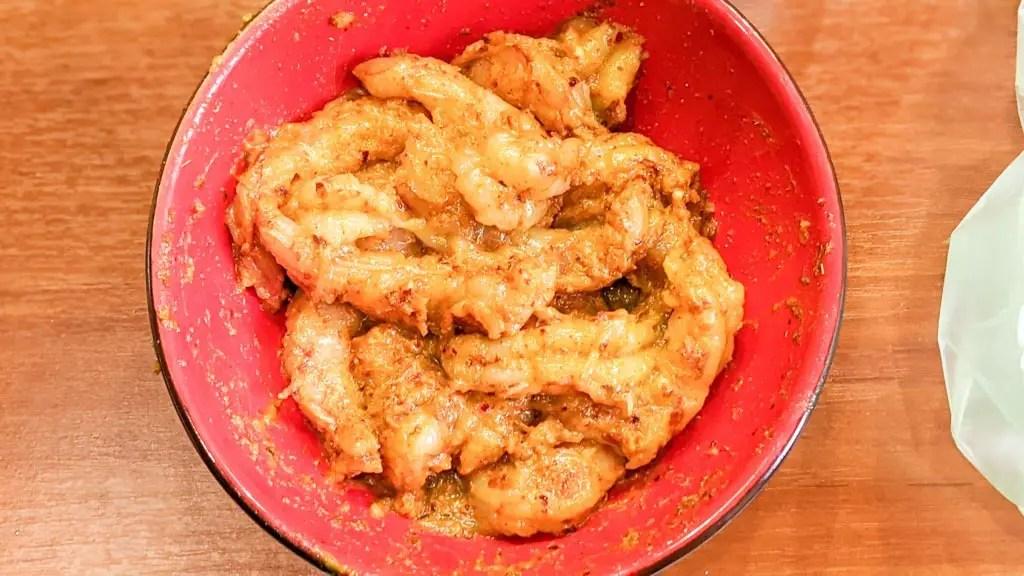 shrimp in the baja california marinade