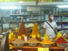 Spices in Mahane Yehuda Jerusalem food market
