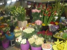 Flowers Market in Ventimiglia Italy