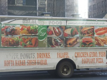 Middle Eastern food Cart in NYC - photo by Sophie Rebibo Halimi