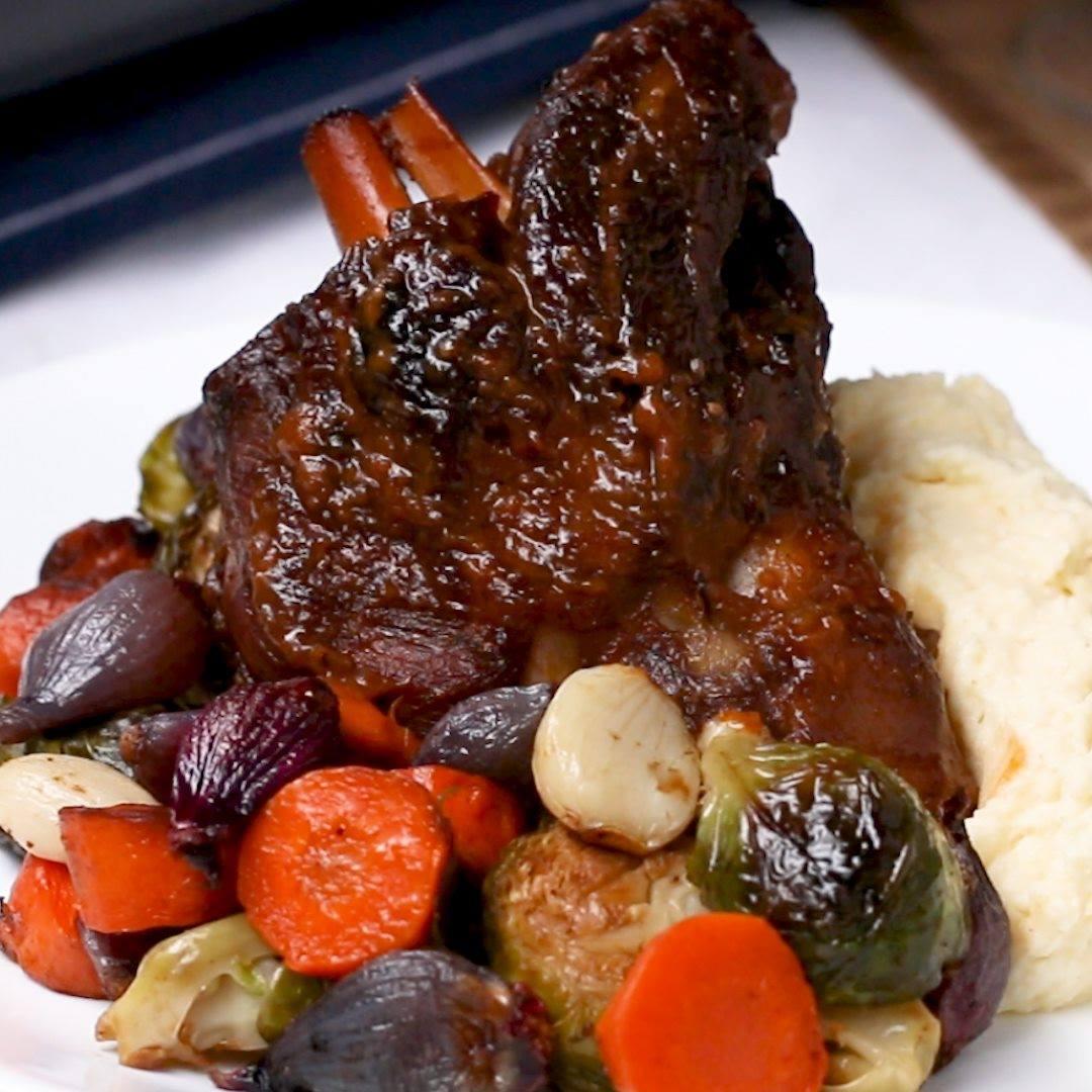 Elegant Braised Lamb Shank Dinner - Cooking TV Recipes