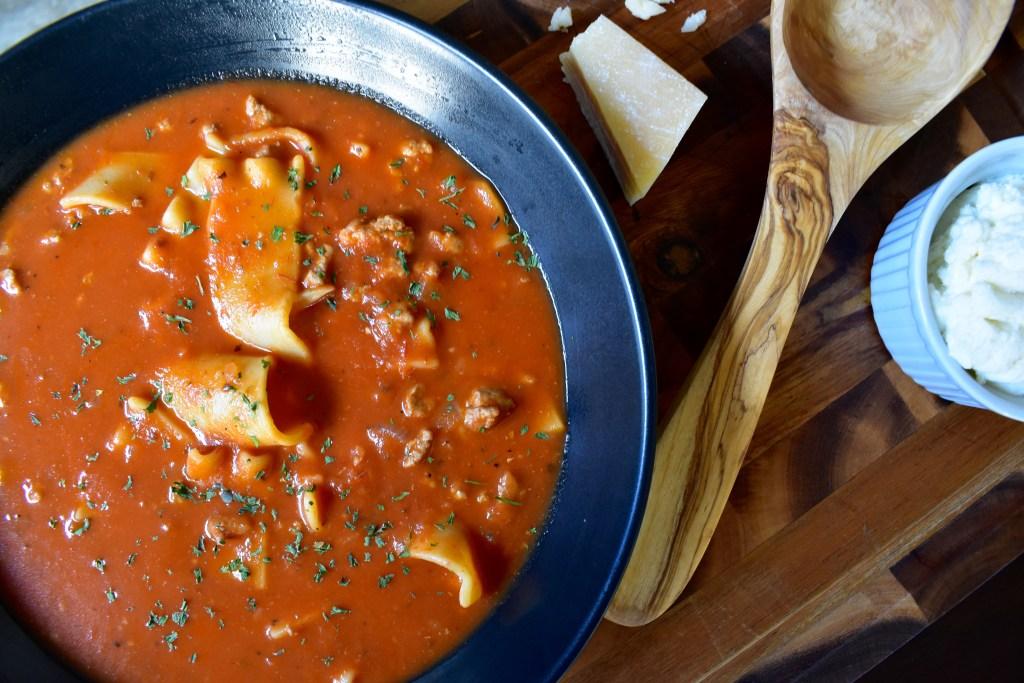 Healthy Turkey Lasagna Soup