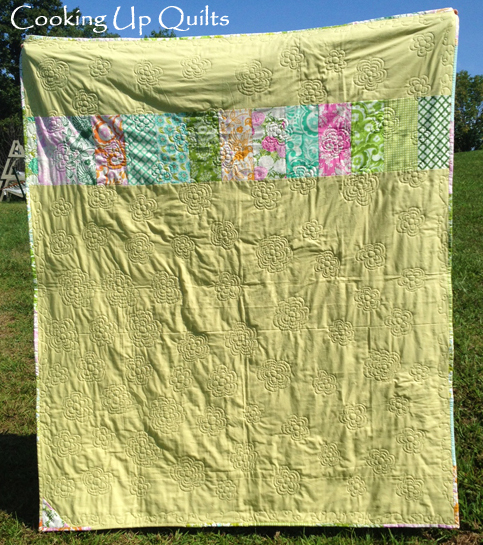 Garden Quilt Pieced Back