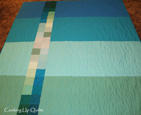 Pieced backing - HST - Tranquility Quilt