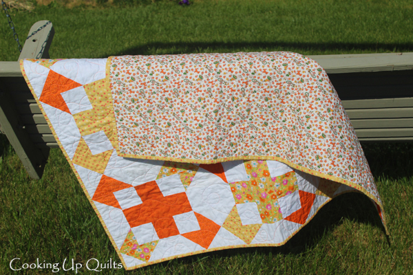 Baby Quilt FMQ loops