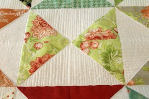 Quilting Progress – Hourglass Project