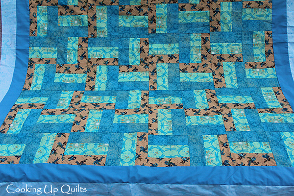 Rail Fence Quilt Top