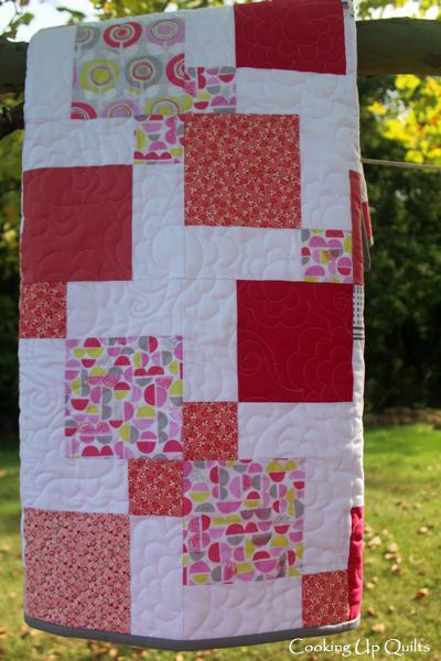 Lollipop Baby Quilt - Nine patch