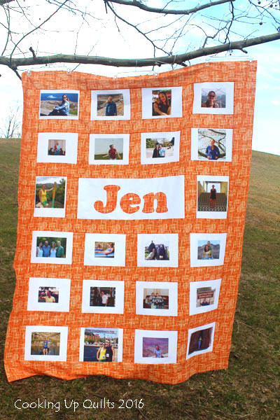 Jen's Photo Quilt - Flimsy Finished