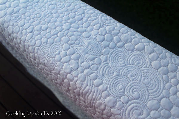 FMQ Wholecloth baby quilt