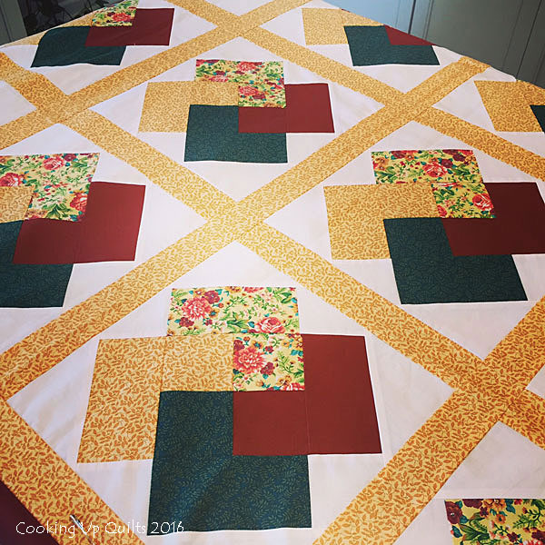 Winning hand Flimsy Quilt Top