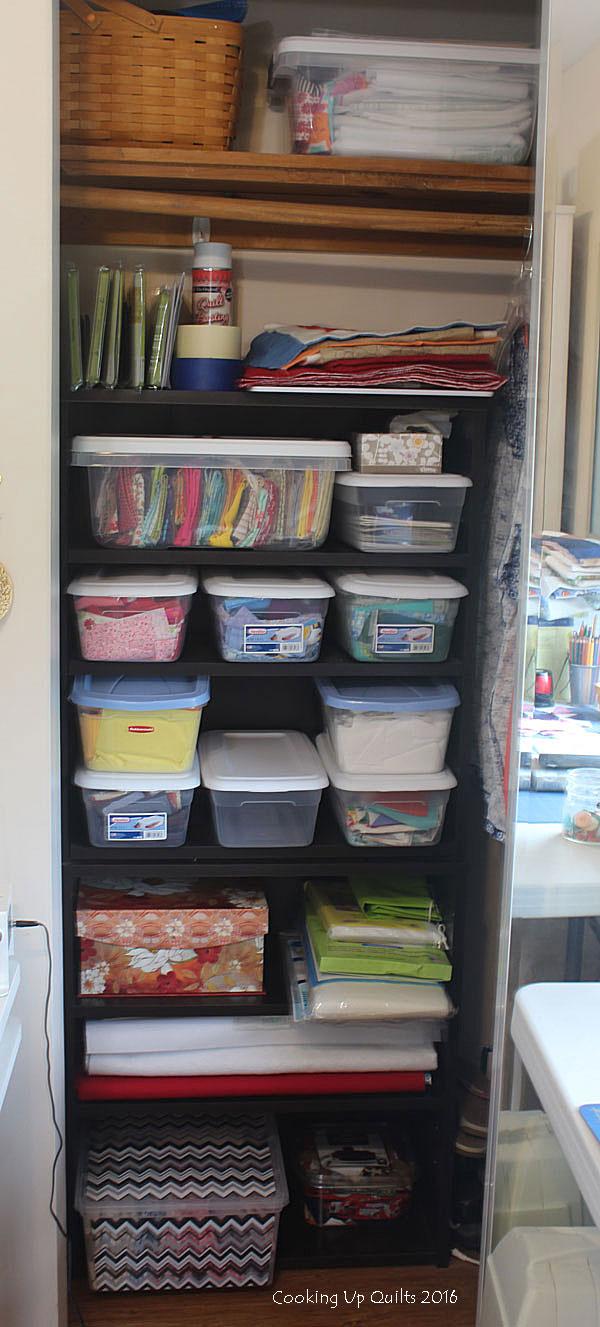 Organized Scrap Closet