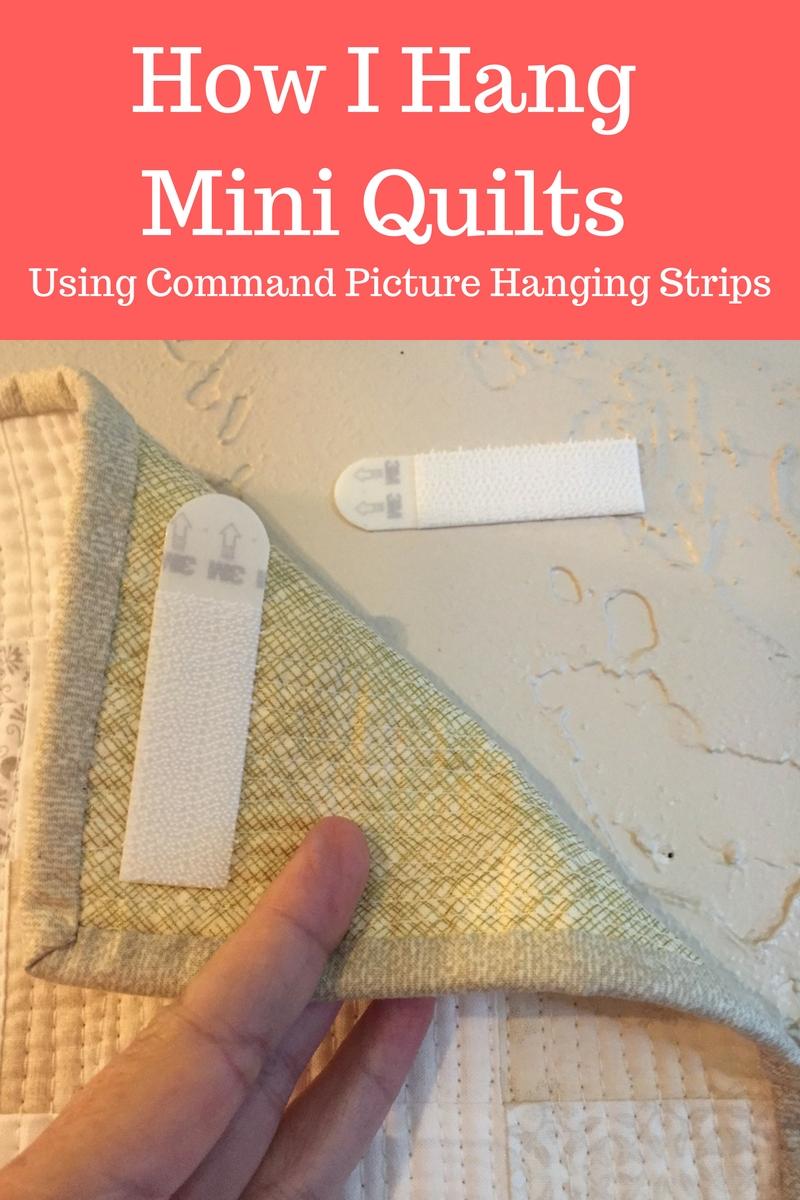 How I Hang Mini Quilts