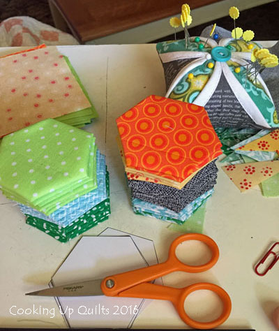 Hexies Scrap Fabric