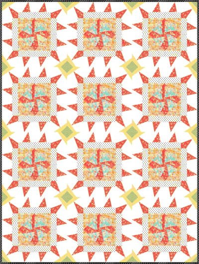 Twirl Me Throw Quilt Pattern