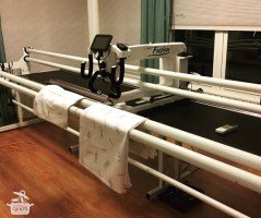 Update on the Longarm – First Stitches