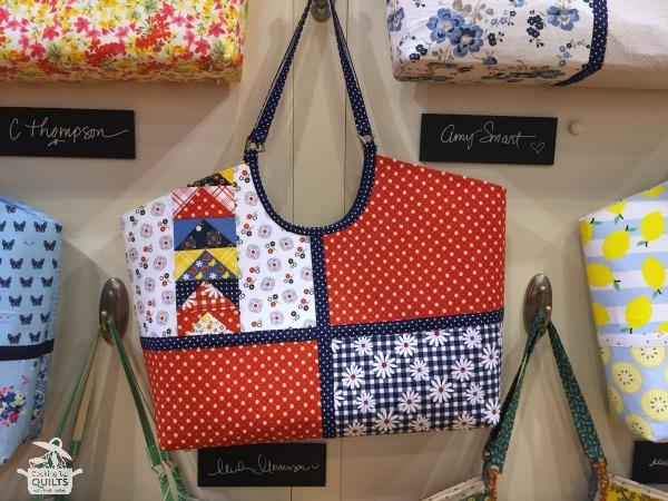 gingham girls handbag